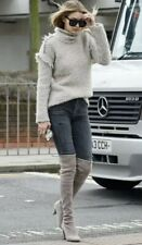 💰sale! Stuart  Weitzman Highland Grey Suede Boots Size 40 10