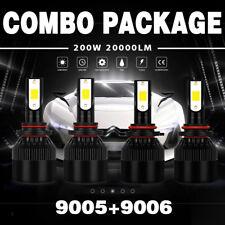 Combo 9005/H10+9006/HB4 400W 40000LM LED Headlight Conversion Kit Bulb 6000K JFP