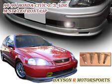 Mu-gen Style Front Lip (Urethane) Fits 96-98 Civic 4dr