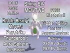 Mewtwo Shiny 6IV Pokemon Sword Shield HIDDEN ABILITY Unnerve Modest w/Masterball