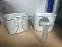 Vintage Belgian Army Aluminium Metal Mug Camping Survival Bushcraft Military UK