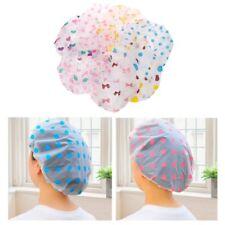 Women Cartoon Waterproof Elastic Shower Bathing Bath Salon Hair Head Cap Hat Dot