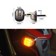 2pcs Motorcycle Bike LED Turn Signal light Blinker Indicators Amber 12V Cruiser