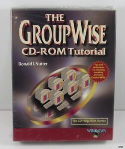 1997 CD ROM Tutorial Novell Groupwise 4.1 and 5 : Ronald Nutter : SEALED