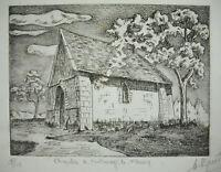 Capilla St De Fontenay-Le-Fleury Num 9/15 Estampa Original Firmada (?)