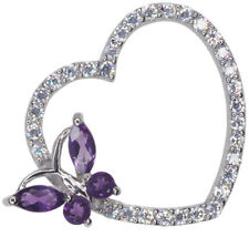 Cubic Zirconia Amethyst Fine Necklaces & Pendants
