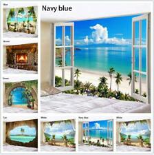 Beach Beach Tree Scenery Tapestry Wall Hanging Art Bedroom Decor Background