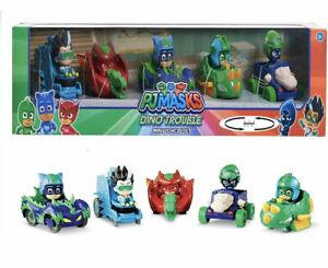 PJ Masks Dino Trouble Mini Vehicle Set Romeo Owlette Catboy Gekko Night Ninja