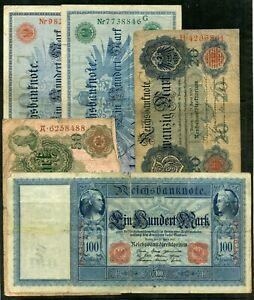 Weeda Germany 1908-1923 Collection of banknotes