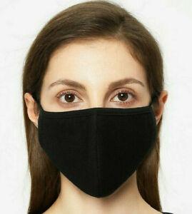 🇫🇷  Masque de Protection Lavable 100% Coton Noir
