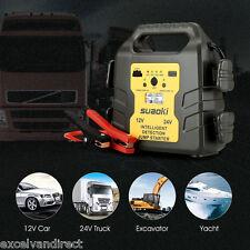 Portable Car Battery Power Booster Jump Start Starter Rescue Pack 1000A 12V 24V