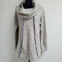 Angel of the North Anthropologie Grey Cowl Neck Pocket Sweater Kangaroo Pocket