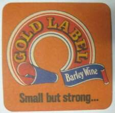 GOLD LABEL BARLEY WINE Beer COASTER, Mat, Whitbread PLC, UNITED KINGDOM