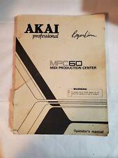 AKAI Professional Roger Linn MPC60 Midi Operator's Manual