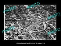 OLD LARGE HISTORIC PHOTO OF EPSOM ENGLAND, AERIAL VIEW OF THE TOWN c1950 1