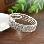 Elastic Crystal Rhinestone Stretch Bracelet Bangle Wristband Wedding Bridal Gift
