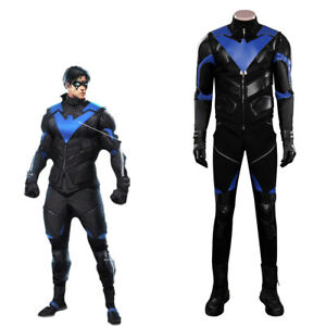 Gotham Knights Nightwing Cosplay Costume Outfits Halloween Suit Carnival