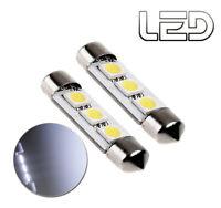 2 Ampoules LED Blanc navette  C5W 36 mm 36mm Coffre Plafonnier pare-soleil boite