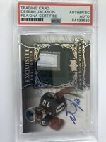 DESEAN JACKSON PHILADELPHIA EAGLES SIGNED SIG PATCH ROOKIE CARD (PSA/DNA CERT.)