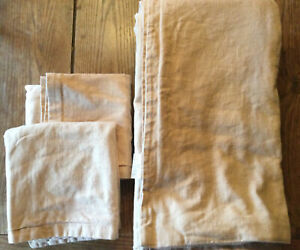 KING SIZE TAN 100%  LINEN DUVET COVER & TWO KING SIZE PILLOW SHAMS MADE IN USA