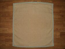 CHAPS RALPH LAUREN Tweed Tan Brown w/ Porcelain Blue Border Euro Pillow Sham