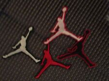 Iron on embroidered applique- 2 Jump man Jordan patches 2.5in.- email color