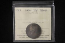 1966 Canada. 25 Cents. ICCS Graded MS-64. (XYG878)