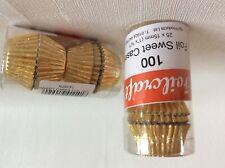 Foilcraft 100 x GOLD foil mini sweet / petit four / truffle cases