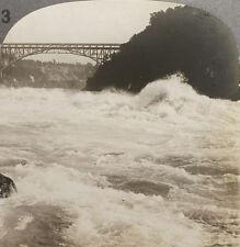 Keystone Stereoview the Whirlpool Rapids of Niagara From Rare USA 100 Card Set