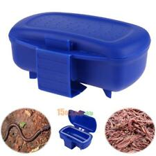 Fishing Tackle Box Baits Earthworm Worm Lure Jig Hook Storage Case Box Organizer
