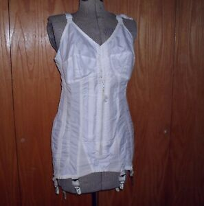 Vintage Carol Brent All in One Zip Front Bra Corset Griddle Open Bottom AS IS