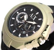 838a437d3313 ARMANI Exchange Cronógrafo Para Hombre De Goma Reloj De Lujo AX1197