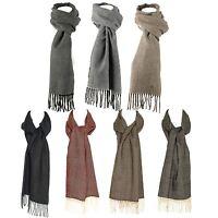 Luxury Wool Blend Unisex Herringbone Pattern Winter Scarf