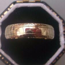 Men's/Women's 9ct Gold Vintage Wedding Band Ring Size K 1/2 Weight 1.9g Stamped