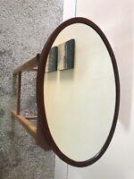 Edwardian Oval Inlaid Wall Mirror