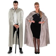 Fun Shack Grey Velour Hooded Cape Cloak Halloween Costume Adult Unisex