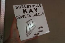 SHELBYVILLE KAY DRIVE IN THEATRE PORCELAIN METAL SIGN CAR CINEMA HOLLYWOOD GAS