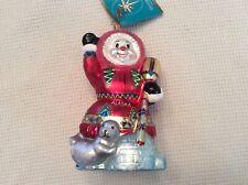 "Christopher Radko ""Eski Snow Northern Lights Alaska� Glass Ornament"