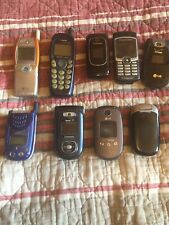 Vintage Cell Phone Flip Phones Lot Collection Lg Samsung Sanyo Sony