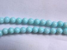 Peruvian Opals, Blue 4.5mm Round Beads, Bag Of 10, Nice Colour
