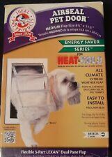 """Ideal Air Seal Pet Door Medium 5 5/8"""" x 11 1/4"""" Cat Dog Doggie  Energy Saver"""