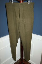 Original 1955 d. Canadian Army Serge Wool Battle Dress Trousers, Well Marked