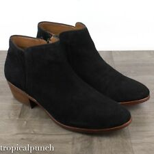 Sam Edelman Petty Black Chelsea Suede Boots SIZE 10
