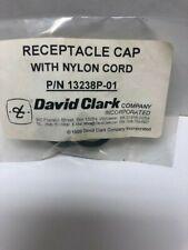 David Clark Receptacle Cap With Nylon Cord P/N 13238P-01 NEW