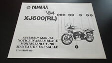 Yamaha XJ600 (RL)  ab '84 Montageanleitung / Assembly Manual