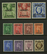 Kuwait  1948-49   Scott # 72-81A  Mint Very Lightly Hinged Set