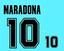 Flocage MARADONA Argentine en feutrine - maillot  Patch Football Argentina
