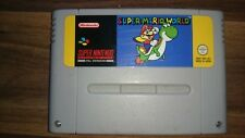 SUPER MARIO WORLD Super Nintendo SNES game UK PAL Version.