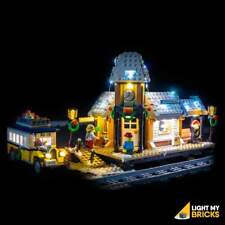 LIGHT MY BRICKS - LED Light Kit for LEGO Winter Village Station 10259 set - NEW