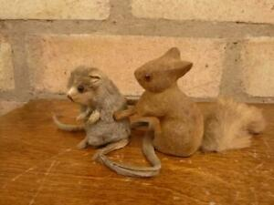 2 Vintage Max Carl small toys Red Squirrel and mouse